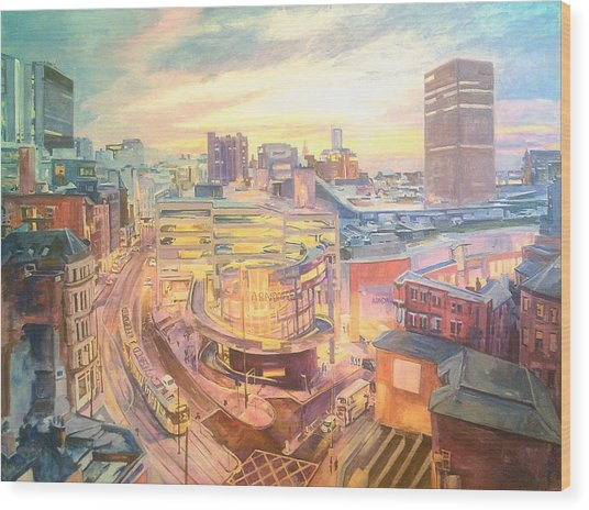 The Arndale Carpark, Manchester Wood Print