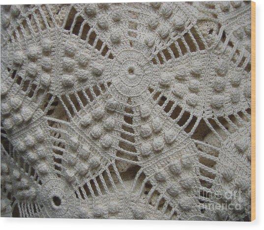 The Art Of Crochet  Wood Print