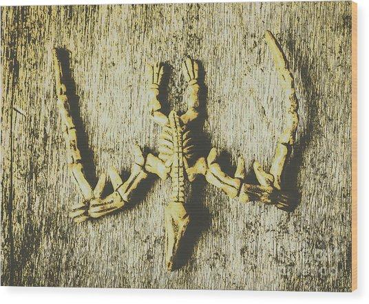 The Art Of Dinosaur Birds Wood Print