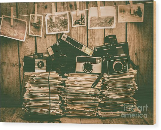 The Art Of Film Photography Wood Print