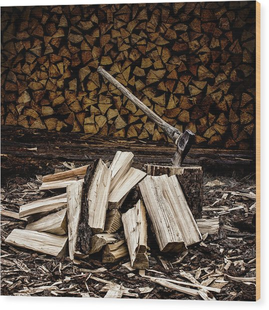 Wood Print featuring the photograph The Art Of Keeping Warm by Fred Denner
