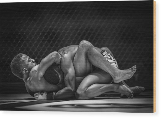 The Art Of The Fight Wood Print