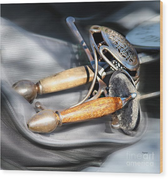 The Art Of Weapons  Wood Print by Steven Digman