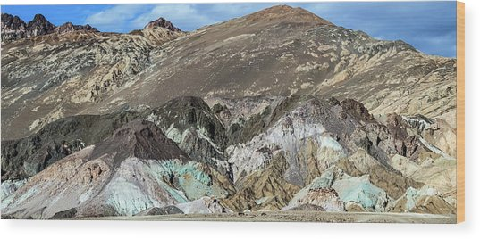 Wood Print featuring the photograph The Artists Palette Death Valley National Park by Michael Rogers
