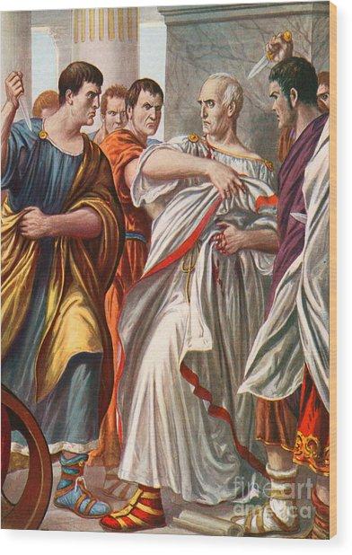 The Assassination Of Julius Caesar Wood Print