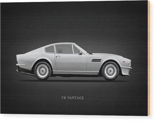 The Aston V8 Vantage Wood Print