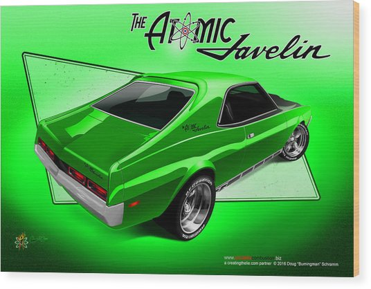 The Atomic Javelin Rear Wood Print