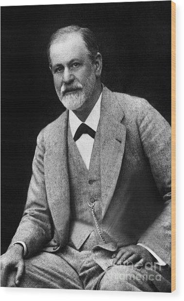 The Austrian Psychoanalyst Sigmund Freud, Circa 1917 Wood Print
