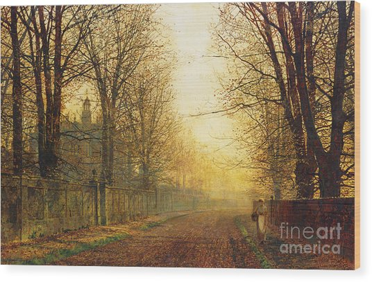 The Autumn's Golden Glory Wood Print