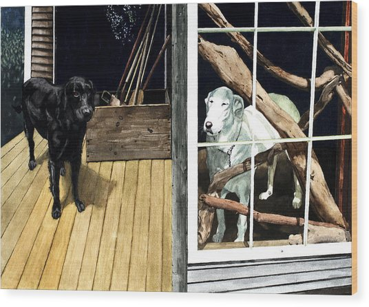 The Back Porch Wood Print by Perry Woodfin