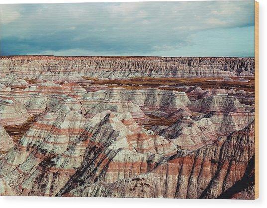 The Badlands Of South Dakota I Wood Print