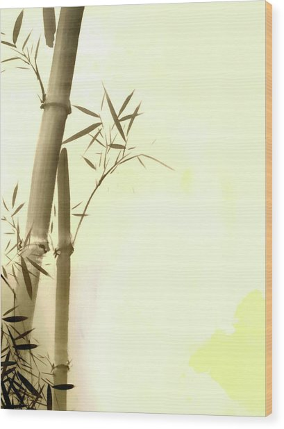 The Bamboo Branch Wood Print