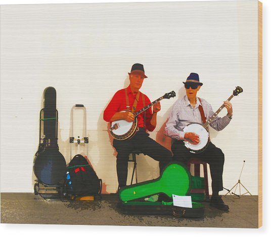 The Banjo Dudes Wood Print
