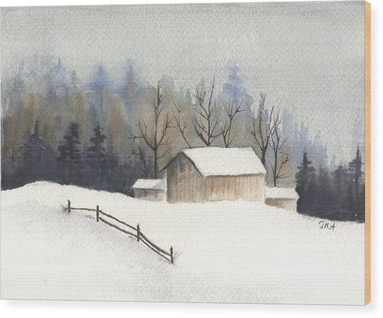 The Barn Wood Print by Jan Anderson