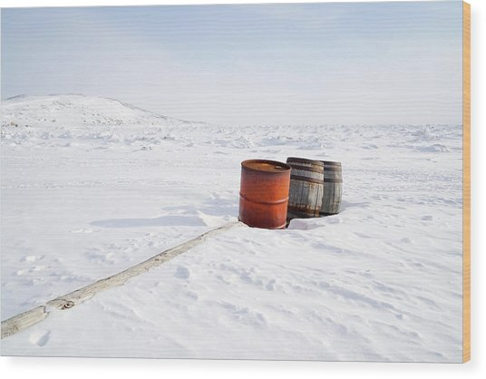 The Barrels Wood Print