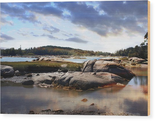 The Basin, Vinalhaven, Maine Wood Print