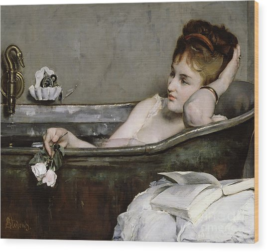 The Bath Wood Print