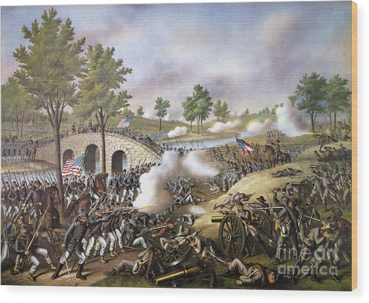 The Battle Of Antietam, Wood Print
