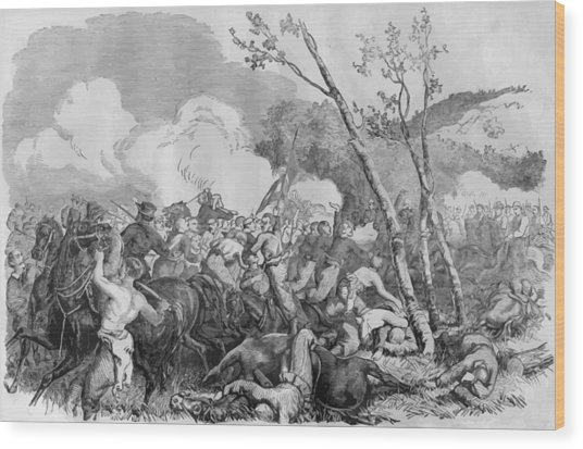 The Battle Of Bull Run Wood Print