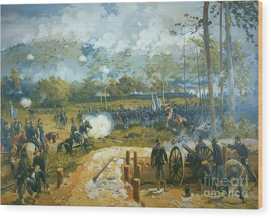 The Battle Of Kenesaw Mountain Wood Print