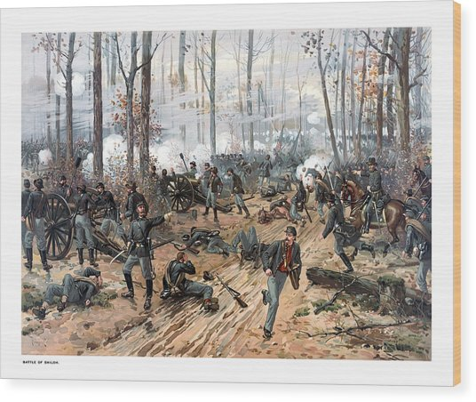 The Battle Of Shiloh Wood Print