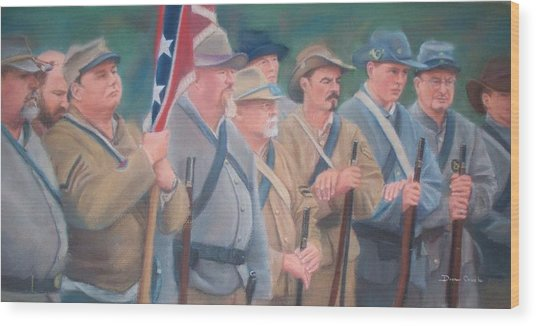 The Battle Of Wilson's Store Wood Print by Diane Caudle