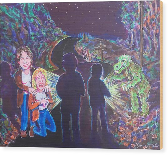 The Bay Road Swamp Monster Wood Print