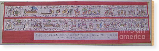 The Bayeux Tapistery Wood Print