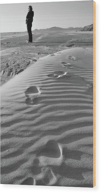 The Beach Comber Wood Print