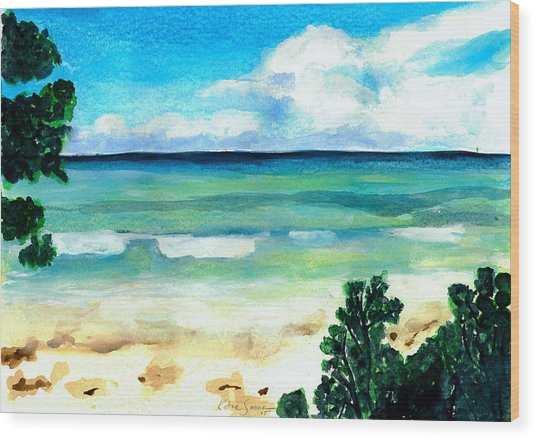 The Beach Wood Print