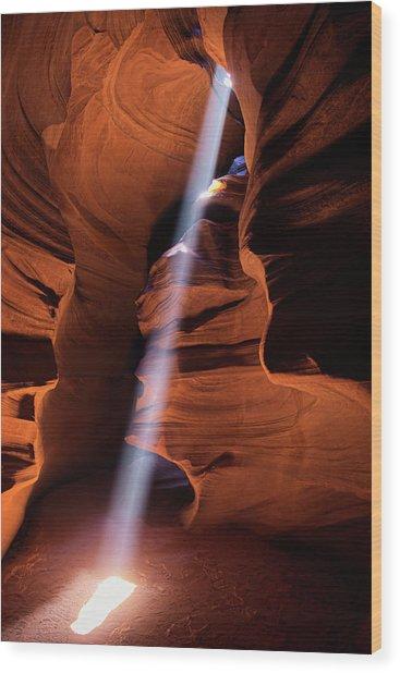 The Beam Of Light Wood Print