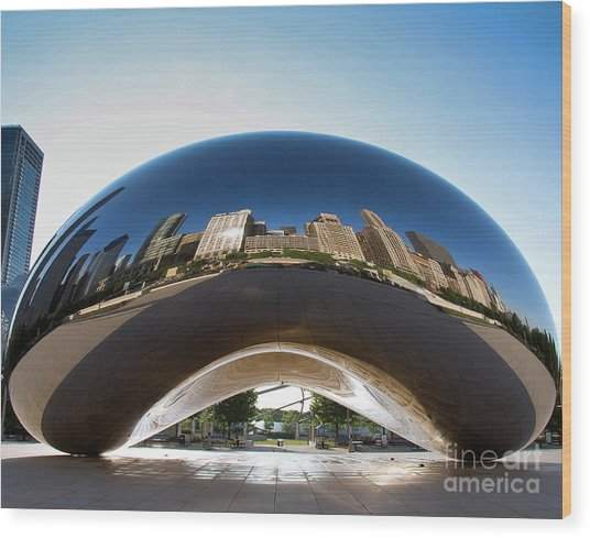 The Bean's Early Morning Reflections Wood Print