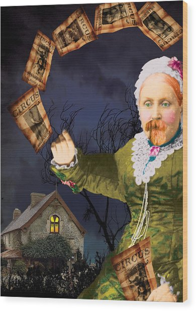 The Bearded Lady's Dream Wood Print by Max Scratchmann