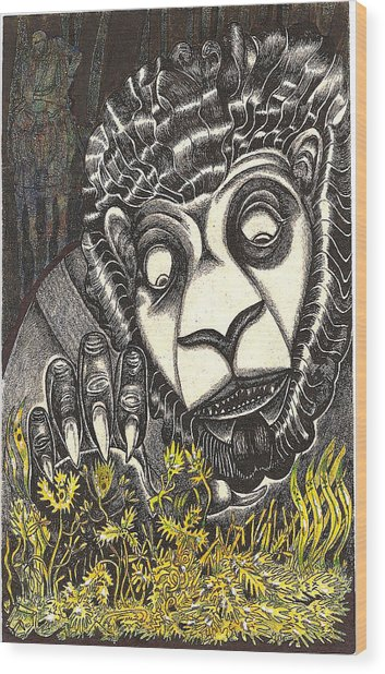 The Beast Discovers New Life Wood Print