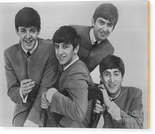 The Beatles, 1963 Wood Print