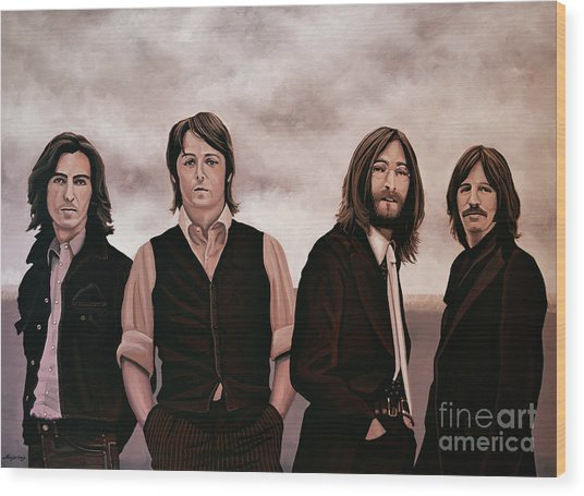 The Beatles 3 Wood Print