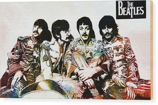 The Beatles--sargent Peppers Lonely Hearts Club Band Wood Print