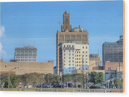 The Beaumont Skyline Wood Print by JC Findley