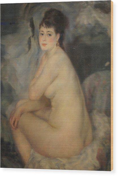 The Beautiful Anna Wood Print by Pierre Auguste Renoir