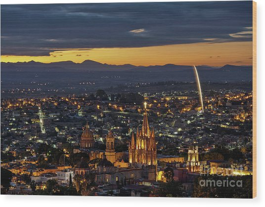 The Beautiful Spanish Colonial City Of San Miguel De Allende, Mexico Wood Print