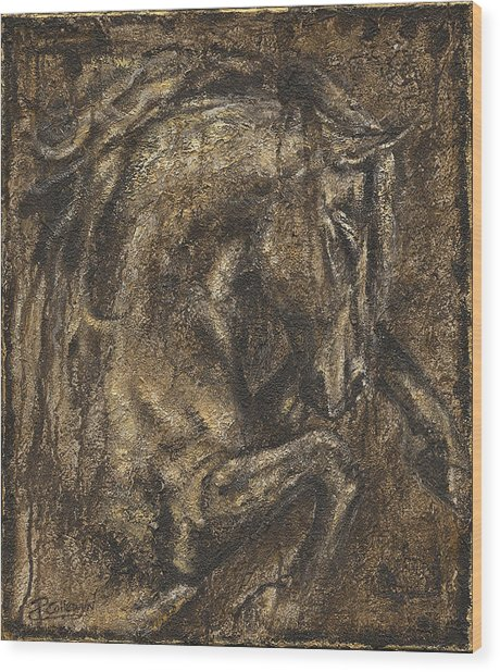 The Beauty Of A Horse Wood Print by Paula Collewijn -  The Art of Horses