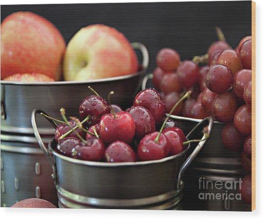 The Beauty Of Fresh Fruit Wood Print