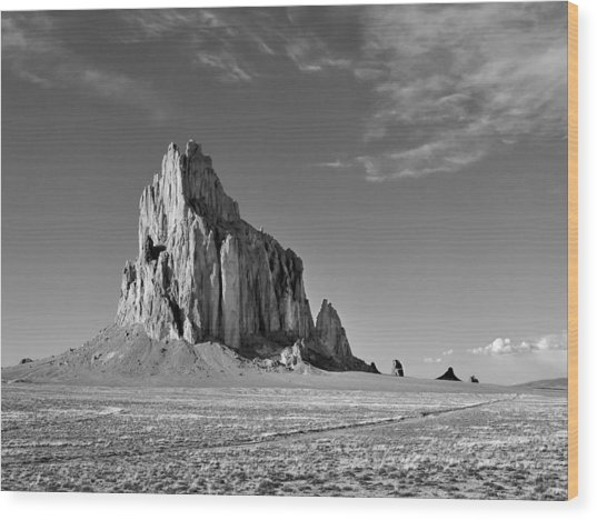 The Beauty Of Shiprock Wood Print
