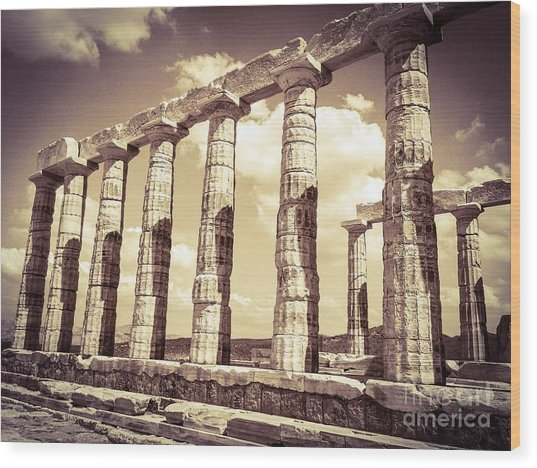 The Beauty Of The Temple Of Poseidon Wood Print
