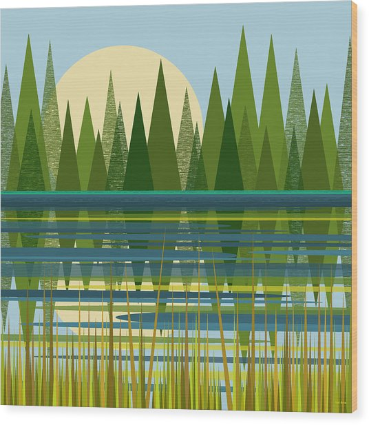 The Beaver Pond Wood Print