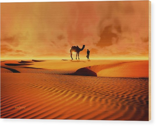 The Bedouin Wood Print