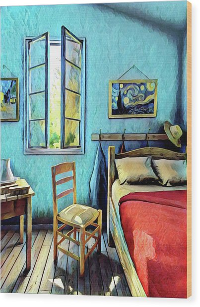 The Bedroom Wood Print