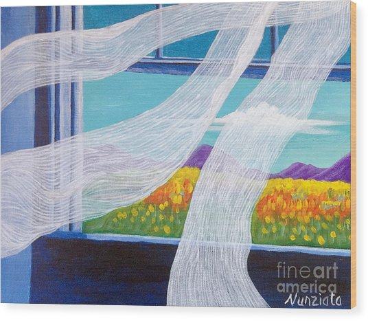 The Bedroom Window Wood Print by Nancy McNamer