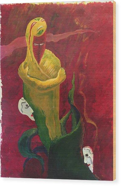 The Beggar Wood Print by Alejandro Lopez-Tasso