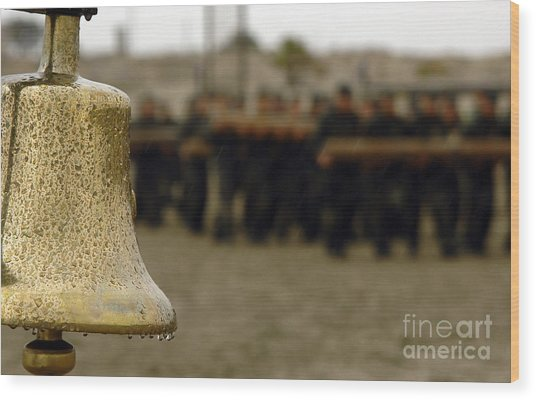 Wood Print featuring the photograph The Bell Is Present On The Beach by Stocktrek Images